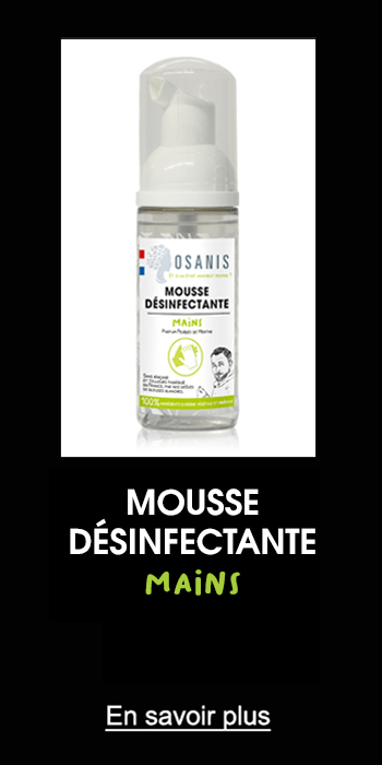 Osanis Mousse désinfectante mains