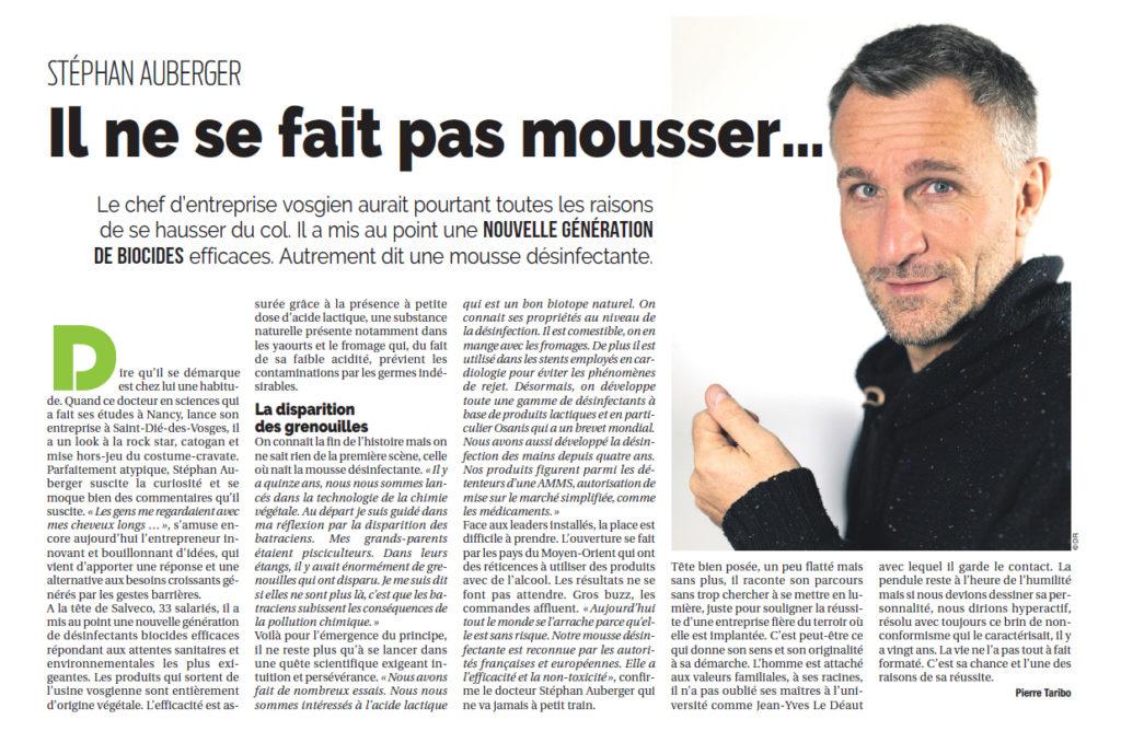 Stephan Auberger dans le magazine du Grand Nancy par Pierre Taribo