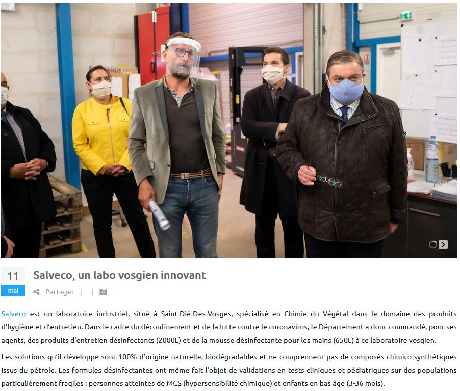Salveco, un laboratoire innovant