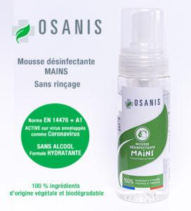 Mousse desinfectante mains OSANIS 150ML 2