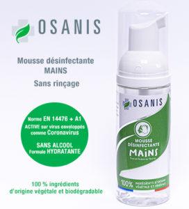 Mousse desinfectante mains OSANIS 50ML SL