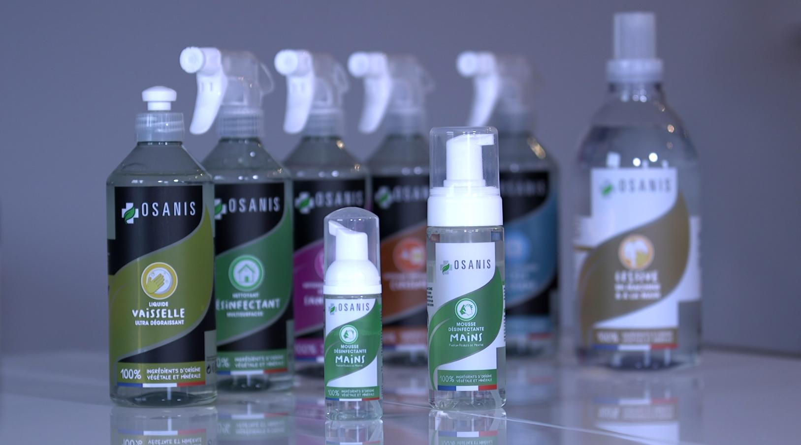 Gamme OSANIS pour des produits détergents ménagers 100% végétale et biodégradable Effibioz
